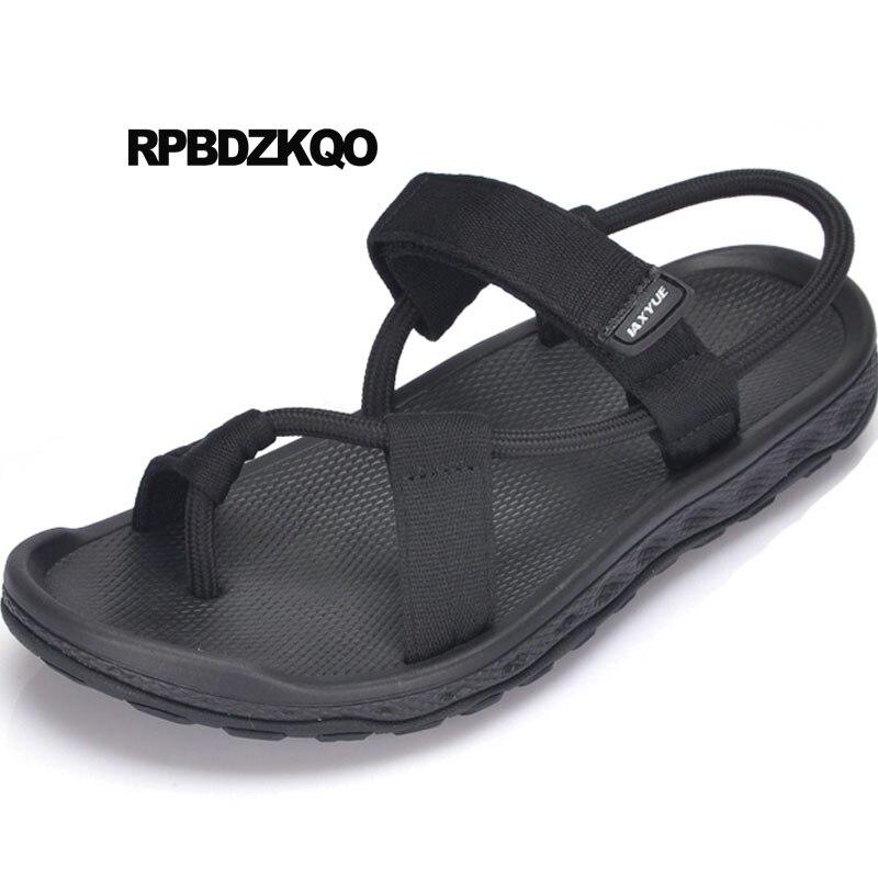 Famous Brand Soft Toe Loop Red Strap Fashion Waterproof Big Size 45 Designer Shoes Summer Large Plus Mens Mesh Black Gladiator
