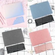 Новый кейс для ноутбука Macbook Air Pro Retina 11 12 13 15 Mac Book 13,3 15,4 дюймов с сенсорной панелью с клавиатурой
