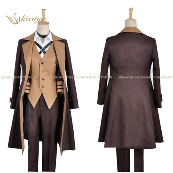 Kisstyle Fashion Bungo Stray Dogs Chuya Nakahara Uniform COS Clothing Cosplay Costume,Customized Accepted