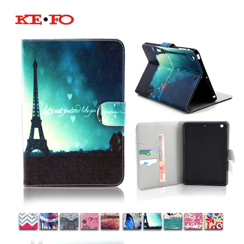 For iPad Min 1 2 3 Print pattern Wallet Leather Stand Flip C