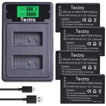 4 pièces EN-EL20 EN EL20 EN EL20a batterie + LCD USB chargeur Type C Port pour Nikon Coolpix P1000 Nikon1 J1, J2, J3 Nikon1 AW1
