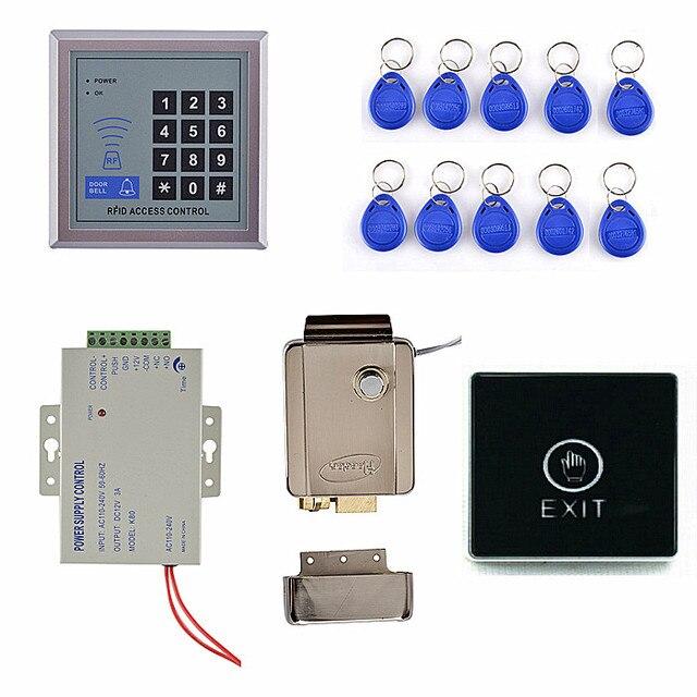 RFID Keypad Tür Zutrittskontrolle Sicherheitssystem Kit + ...