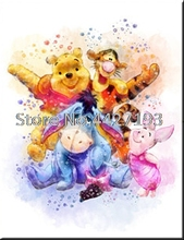 Diamond Painting Full Square Drill Embroidery Winnie the Pooh Mosaic Cartoon Picture Rhinestone Home Decor Gift