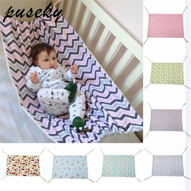 Puseky bebé recién nacido seguridad hamaca cuna portátil al aire libre colgando asiento Columpio de jardín cama de los niños desmontable muebles