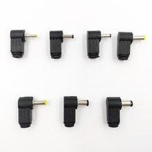 Conector macho de tomada dc de encaixe fio, conector de ônibus 2.5*0.7/3.5*1.1/3.5*1.35/4.0*1.7/4.8*1.7/5.5*2.1/5.5*2.5 ângulo reto l jack tipo l