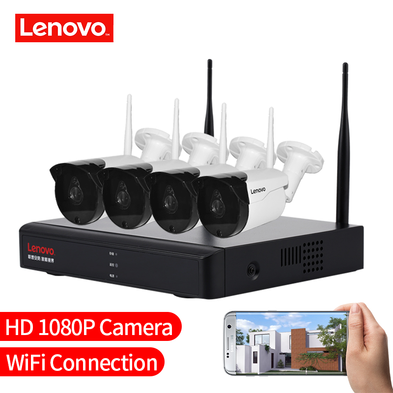 Image 5 - LENOVO 4CH Array HD Home WiFi Wireless Security Camera System DVR Kit 1080P CCTV WIFI Outdoor Full HD NVR Surveillance Kit Rated-in Surveillance System from Security & Protection