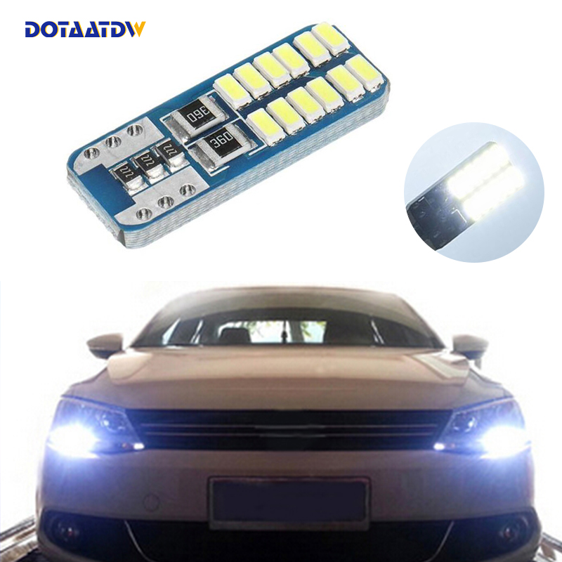 1x T10 3014 SMD 24 <font><b>LED</b></font> W5W Parking Lamp Clearance <font><b>Light</b></font> For Volkswagen Polo Passat b5 b6 CC <font><b>Golf</b></font> 4 5 <font><b>6</b></font> 7 mk6 tiguan image