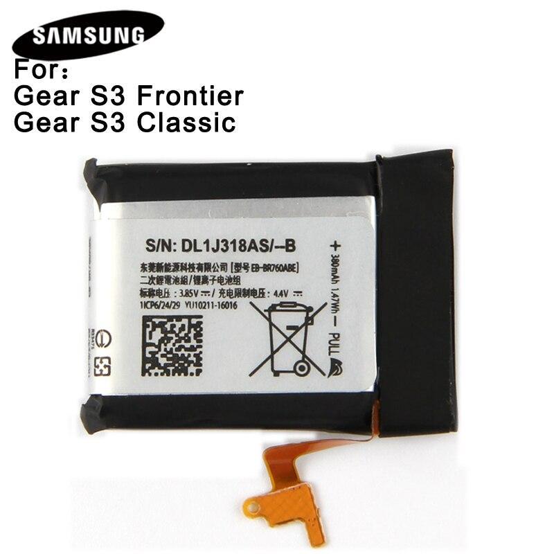 Batería Original EB-BR760ABE para Samsung Gear S3 Frontier/Classic EB-BR760A SM-R760 SM-R770 SM-R765 380 Mah