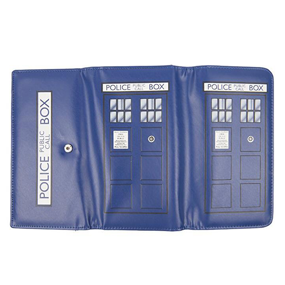 Doctor Who Wallet Man Purse Fashion Coin Pocket Design Lady Short Wallet Blue Pu Leather Card Id Holder Long Wallet Wallets Luggage & Bags