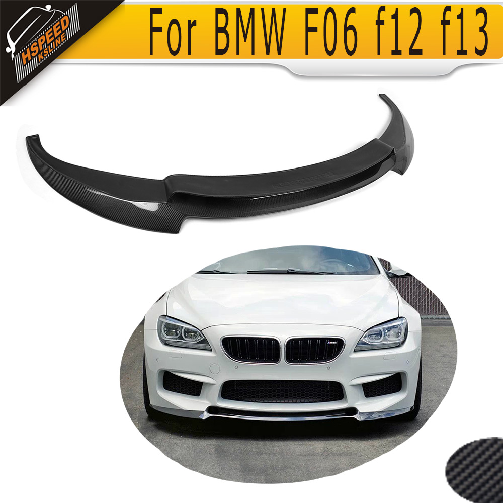 6 Series Carbon Fiber Front Bumper Lip Spoiler for BMW F12 M6 Base Convertible Coupe 2014 2015 2016 Car-Styling