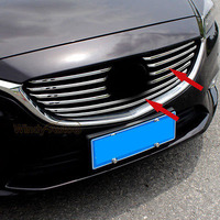 Chrome Front Grill Grille Trim Fit For 2016 2017 2018 Mazda 6 ATENZA M6 6PCS