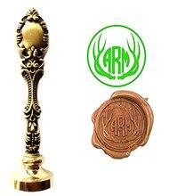 Deer Horn Vintage Custom Picture Logo Luxury Wax Seal Sealing Stamp Brass Peacock Metal Handle Gift Set