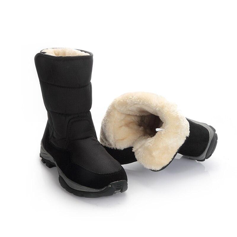 39b1f8990 Купить 2018 мужские ботинки черная зимняя обувь мужские зимние ботинки  большой размер 48 теплый мех резиновая прочная подошва пряжка новый мужской  с.
