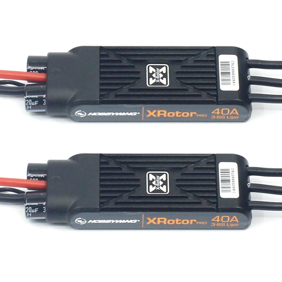 New 2pcs Hobbywing XRotor Pro 40A ESC No BEC 3S 6S Lipo Brushless ESC DEO for