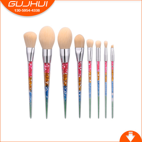 8 Makeup Brushes, Make-up Tools, a Set of Brush Brush, Makeup, Foundation Brush, White Hair, GUJHUI 5 makeup brushes mermaid makeup brushes make up tools suit sets brush makeup gujhui rhyme color