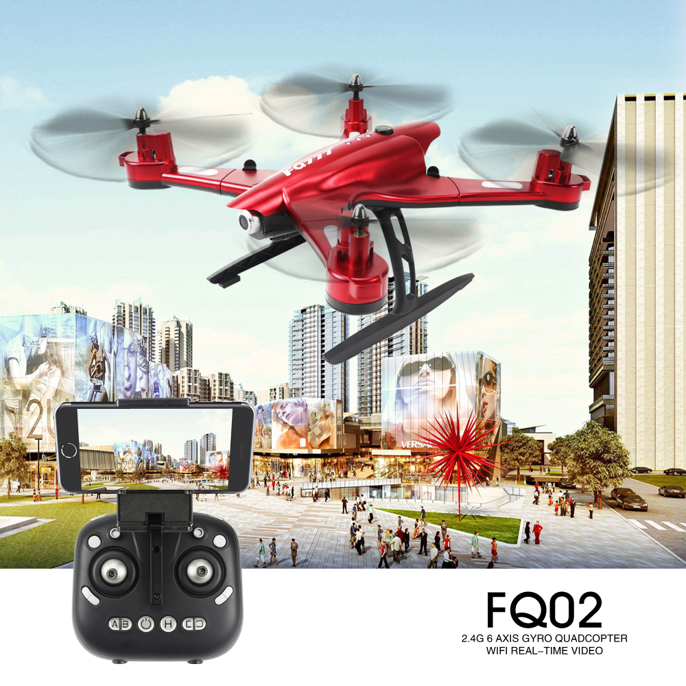 FQ777 FQ02W WiFi FPV Foldable Drone 0.5MP / 2MP Camera With High Hold Mode 4CH 2.4G RC Quadcopter Helicopter jjr c jjrc h43wh h43 selfie elfie wifi fpv with hd camera altitude hold headless mode foldable arm rc quadcopter drone h37 mini
