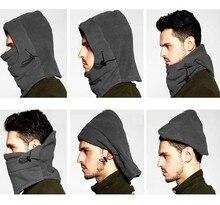 Quality warm fleece winter cycling hats for men women cycling outdoor caps masked cap keep warm cs masked cap fast shipping