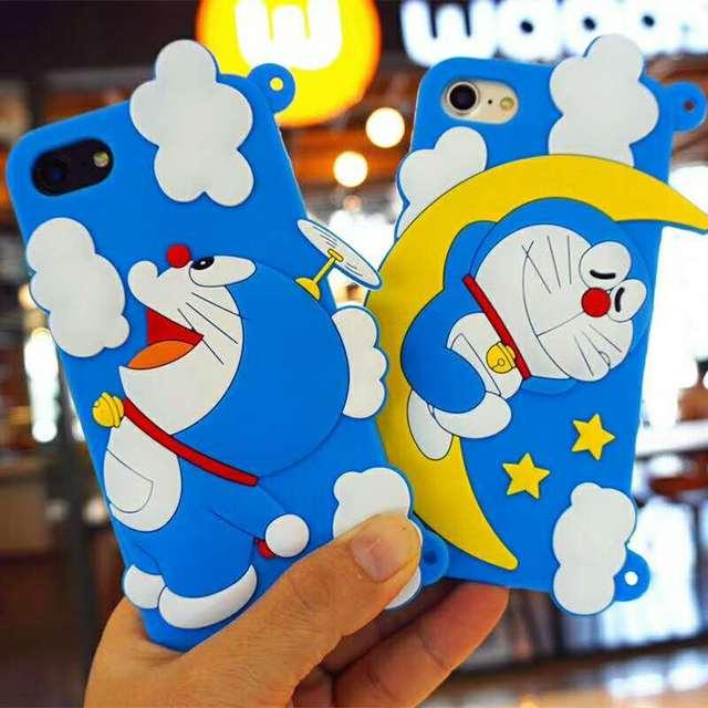 Zmasi 3d Doraemon Sleeping On Moon Soft Cell Case For Iphone 8 7 6