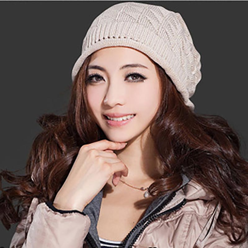 2017 Autumn Winter Hats Knitted Skullies Beanie Hat Solid Gorros Hip Hop Beanies for Men Women Hats Snow Caps High-quality skullies