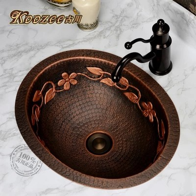 Ancient European Antique Art Basin Oval Undercounter Copper Bronze Bathroom Sink In Sinks From Home Improvement On Aliexpress Alibaba Group