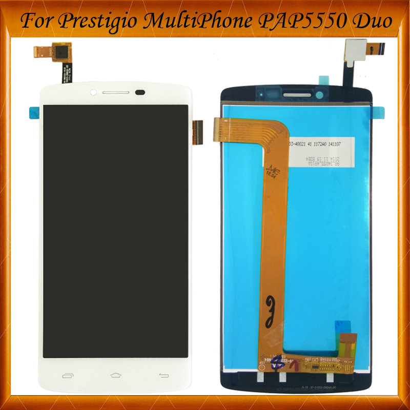 Black White COLOR 5.5 For Prestigio MultiPhone PAP5550 PAP 5550 DUO LCD Screen Display with Touch Screen Digitizer Assembly