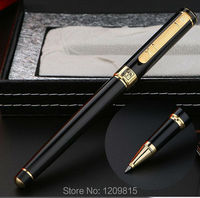 High Quality Picasso Brand Black Roller Ball Pen With Gold Clip School Office Stationery Luxury Writing
