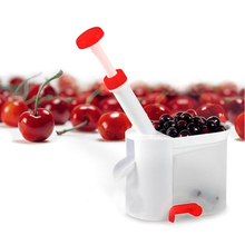 Novelty Super Cherry Pitter Stone Remover Machine Cherry Corer With Container Fruit Vegetable kitchen Tools