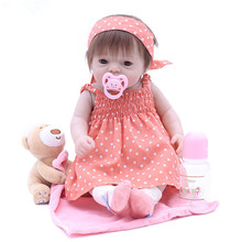 Full Body Soft Silicone Babies Girls Reborn Baby Doll Princess Girl Dolls Lifelike Real Born Dolls Bebe Real Reborn Bonecas Gift цена 2017