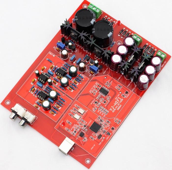 XMOS U8 + WM8741 USB decoder board/home audio DAC board xmos