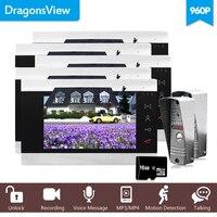 Dragonsview 7 Audio Intercom TFT LCD Wired Video Door Phone Visual 960P HD Home Video Intercom 2 Outdoor Door bell doorbell