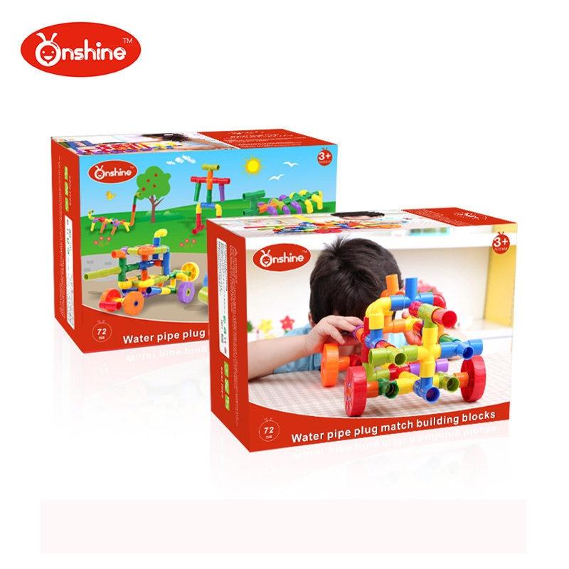 Onshine garçons Tunnel ABS blocs de construction enfants jouets voiture bloc tuyau modèle jouet enfants début d'apprentissage éducatif 72 pièces enfant cadeau