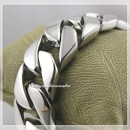 Заказ образца 8,5 Прохладный Тяжелая 316L Нержавеющаясталь Для Мужчин's браслет байкера 5D001 настраиваемая длина