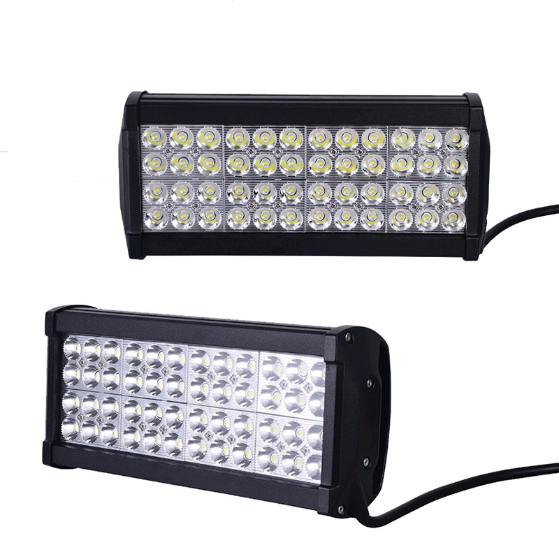 2 Pcs 12 Inch 144W LED Work Light Bar Spot Flood Beam Light For Off Road 4X4 Truck Tractor Boat SUV ATV 48*3w Auto Car Worklight