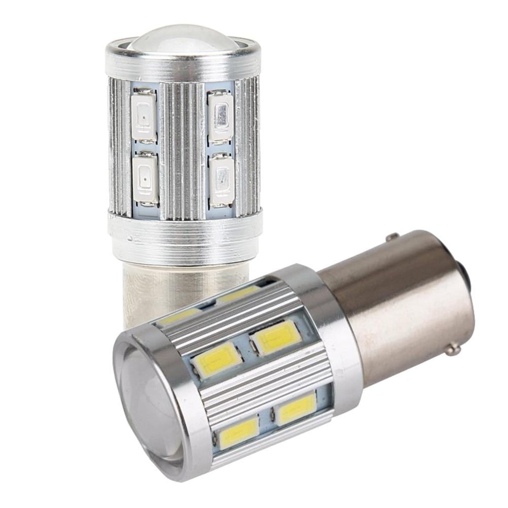 1db 1156 BA15S 12 SMD izzó led chipek nagy teljesítményű lámpa - Autó világítás