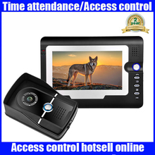 Sale 7 Inch TFT Monitor LCD Color Video Door Phone Intercom System With SD Card Video Recording Waterproof Night Vision Cameras