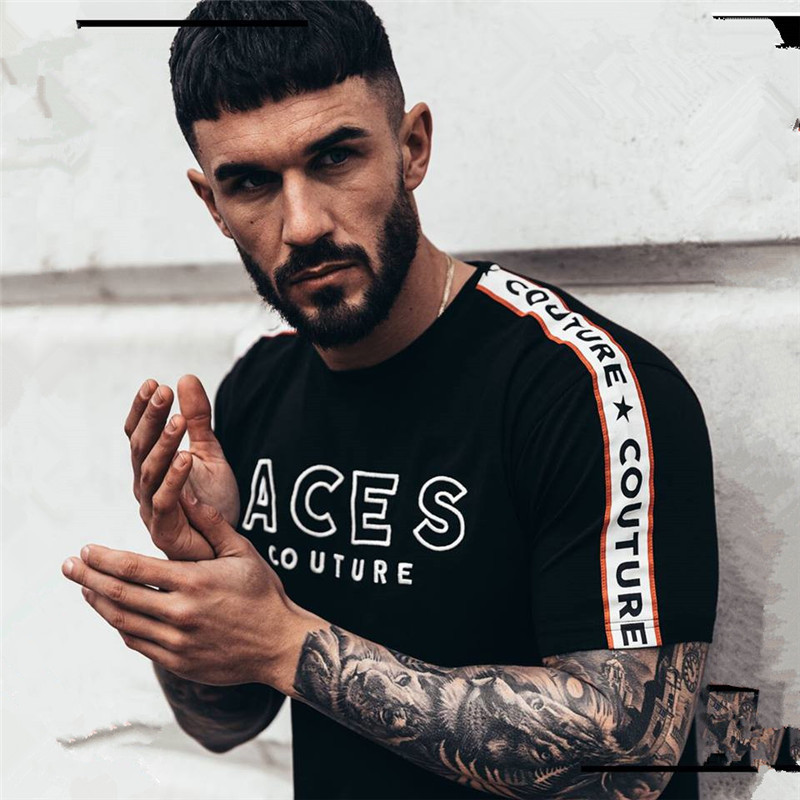 Mens T Shirt 2019 New Fashion Striped T Shirt Mens Clothing Trend Slim Fit Short Sleeve Casual Mens Top Tee Shirt 2XL