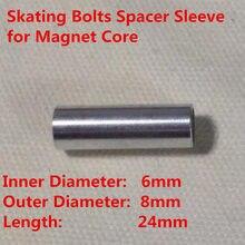 6mm diâmetro interno 8mm diâmetro externo roda de patinação parafuso manga espaçador 608 688 rolamento ímã núcleo led flash patins rodas