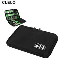 CLELO Travel Portable Organizer Водонепроникна багатофункціональна сумка для зберігання Digital Gadget Devices Пристрій для USB сумки для подорожей навушників