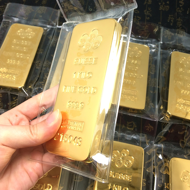 Suisse Swiss 1kg gold bar 1000g gold plated bar with different serial numbers offer drop shipping