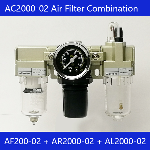 Free shipping AC2000-02 Air source processor Air filter relief valve Sanlian pieces AF2000-02, AR2000-02, AL2000 02Free shipping AC2000-02 Air source processor Air filter relief valve Sanlian pieces AF2000-02, AR2000-02, AL2000 02