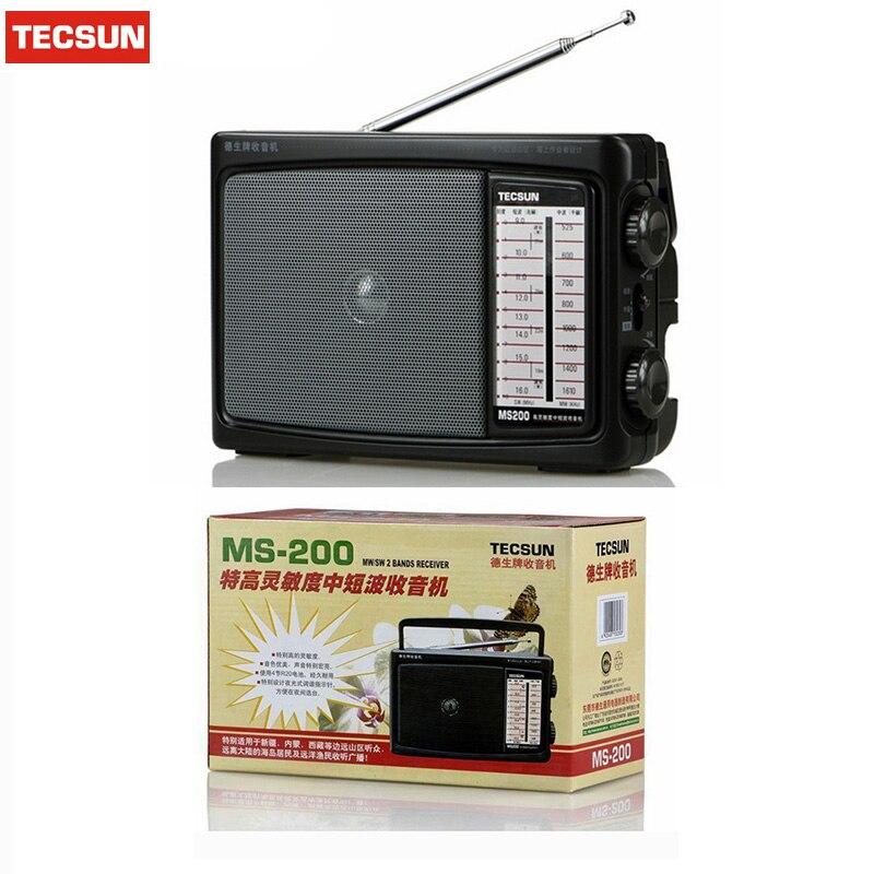 Haben Sie Einen Fragenden Verstand Einzelhandel-großhandel Tecsun Ms-200 Radio Fm/mw/sw Radio Multiband Radio Receiver Doppelkonversion Tragbare Audio Radio Tragbare 100% Original Unterhaltungselektronik