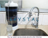 Purificador de agua de bebida directa  purificador de agua montado en el grifo Kicthen  purificador de agua de carbón activado de 8 capas