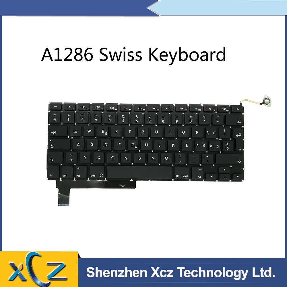 """Nowa szwajcaria klawiatura dla Macbook Pro 15 """"A1286 szwajcarski klawiatura 2009 2010 2011 2012 rok"""