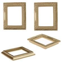 6857 cm 112 dollhouse miniature mirror with gold frame gold photo frames - Mini Gold Frames