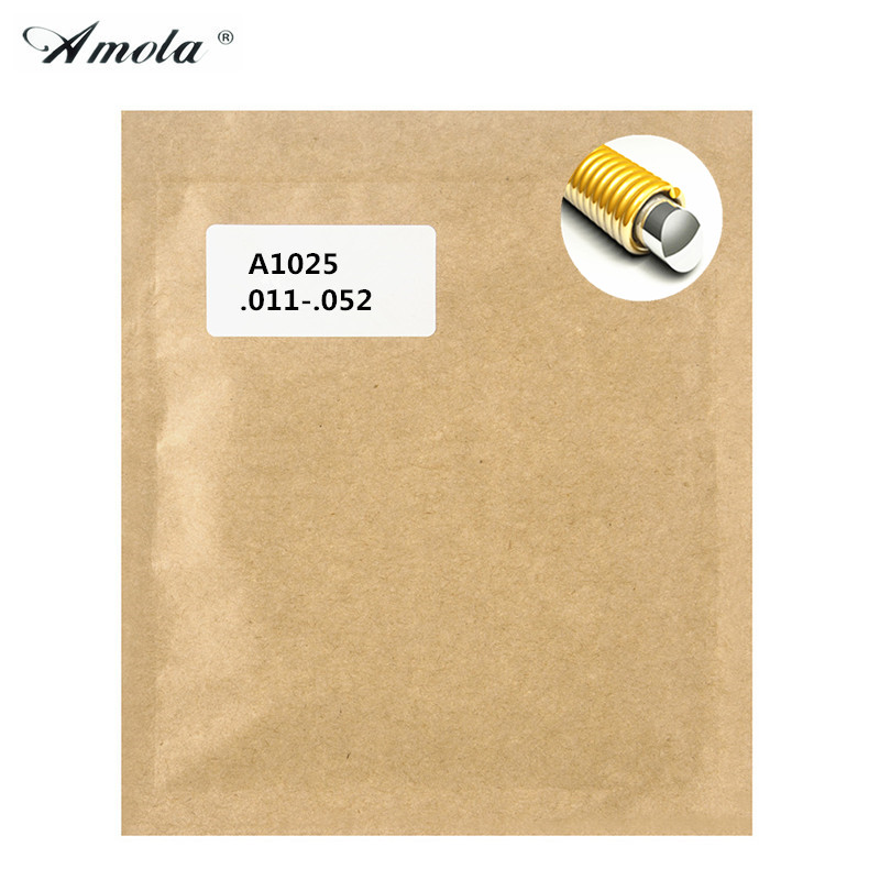 Acoustic Guitar Strings Amola Original A1025 Great Tone Long Life 80/20 Bronze Wound Guitar Strings 011-052 3 Sets