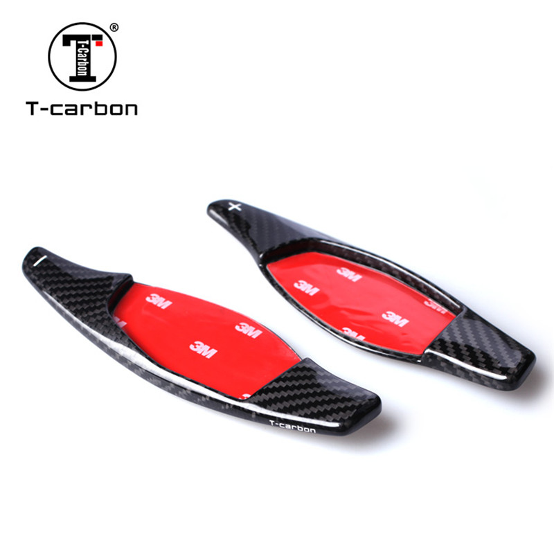 2018 Car styling Real Carbon Fiber Steering Wheel Shift Paddles Wheel Paddle For Audi R8 RS3