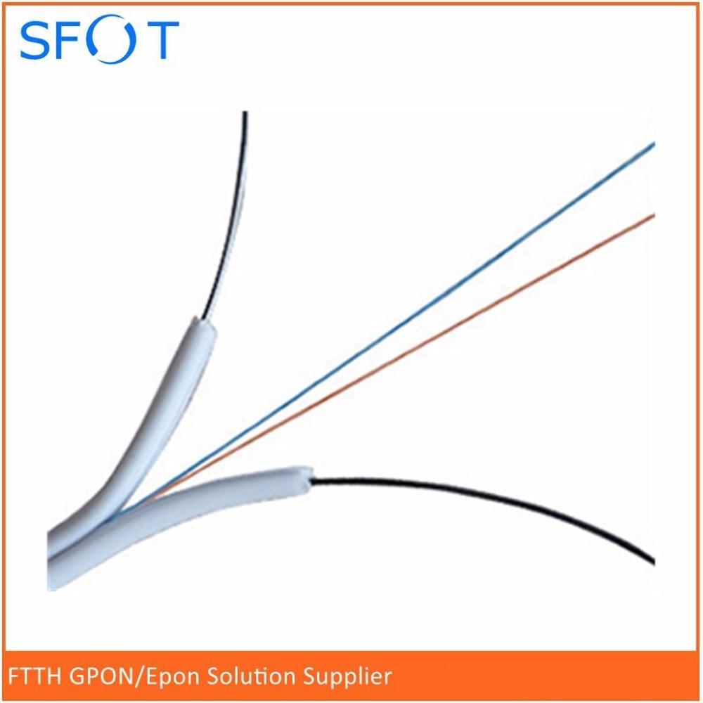 FTTH Fiber Drop cable, 2-Core, White color, Indoor Use, with 2 steels, 2000M/RollFTTH Fiber Drop cable, 2-Core, White color, Indoor Use, with 2 steels, 2000M/Roll