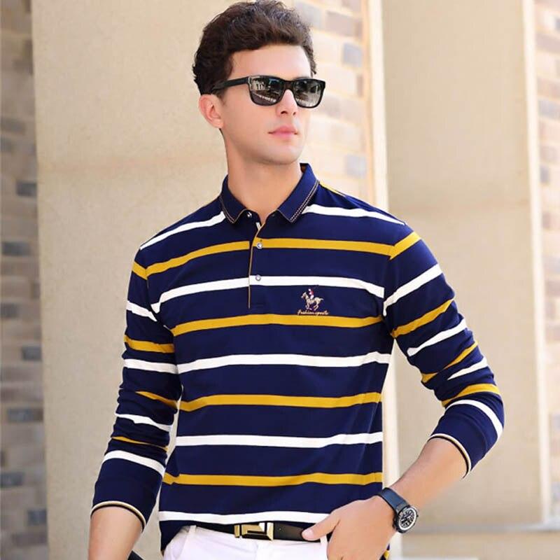 2018 ASALI Tops y camisetas de alta calidad hombres camisas de moda estilo verano rayas marca Polo de manga corta hombres 618822
