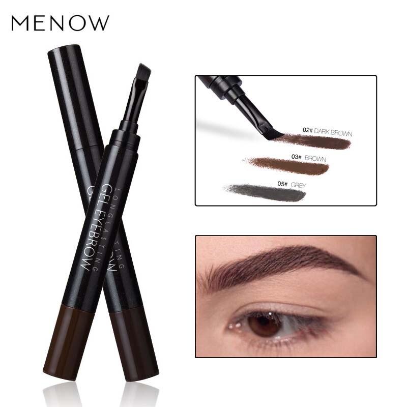Menow Водонепроницаемый для бровей крем натуральный Макияж длительный чёрный; коричневый Цвет пигменты Henna бровей Eye Brow крем с Кисточки