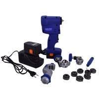 Cordless Electric Flaring Tool Kit CT E800AL with Scraper Tube cutter Spare Battery Steel Bar for 1/4'~3/4(6mm 19mm)